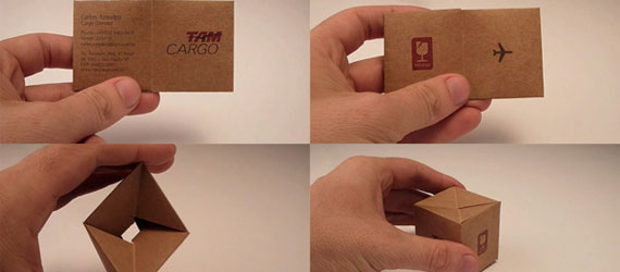 25 Unique Folded Business Cards