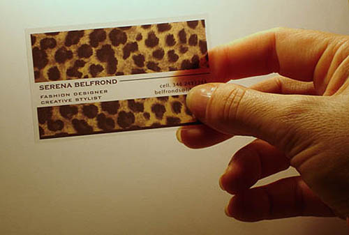 Fashion Designer Plastic Business Card_9