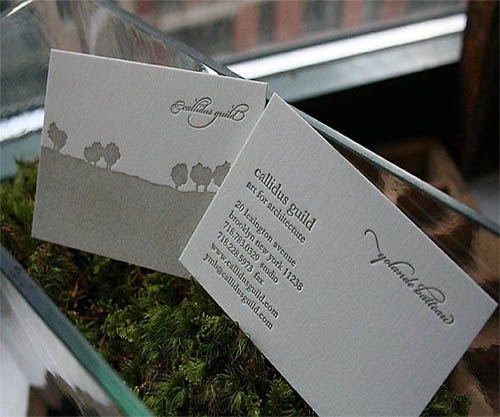 Letterpress Business Card for Architecture_21