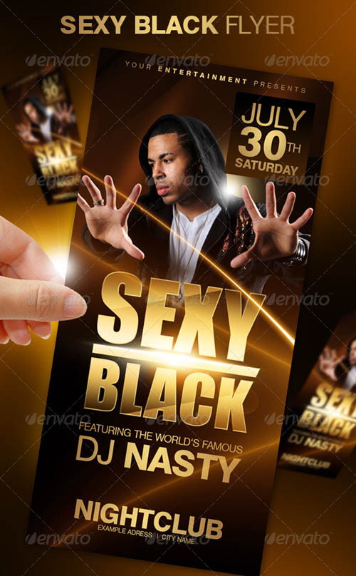 Sexy Black Party Flyer_28
