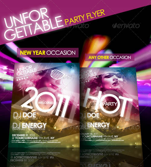 Unforgettable Party Flyer_22