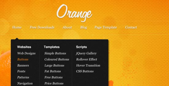 orange psd website template