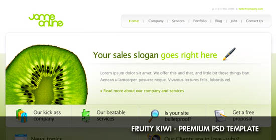 Fruity Kiwi - PSD Template_10