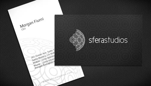 black and white business card_8