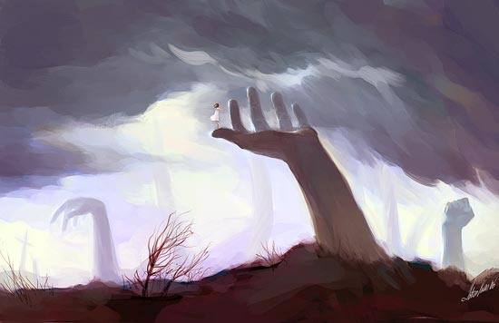 giant hand by tobiee