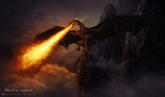 The Dragon of hell by Benjja1