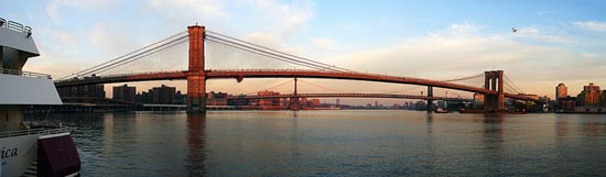[Panorama] Brooklyn, Manhattan and Williamsburg Bridges by Diego3336
