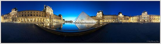 Louvre's museum panoramic, Paris FRANCE by Eloy RICARDEZ LUNA