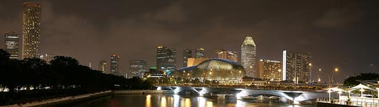 Esplanade Night Panorama by DanielKHC
