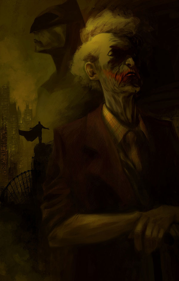 Joker and batman by Morgan YON