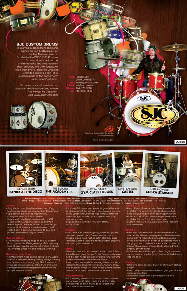 SJC Drums Brochure