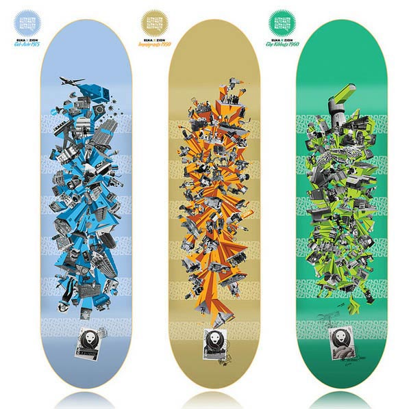 ZION Skateboards 2010 seria design