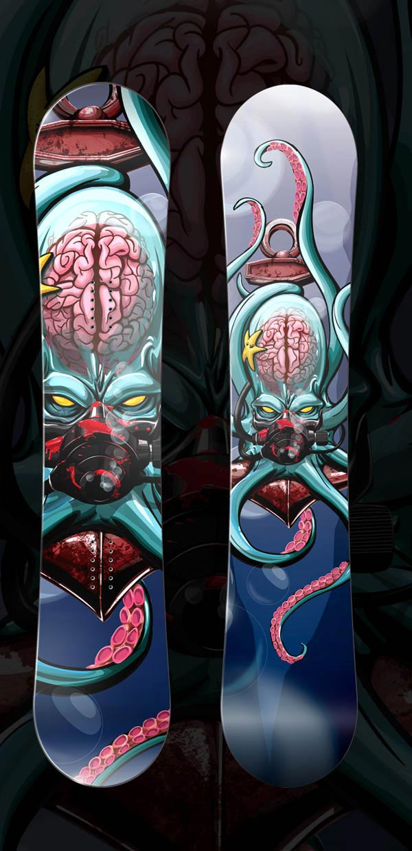 The Kraken Snowboard Deck