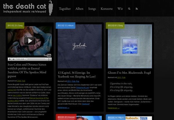 the death cat, independent music re/viewed
