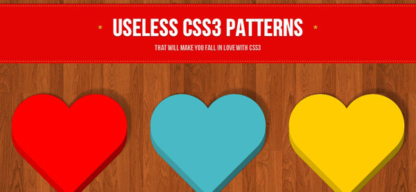 Useless CSS3 Patterns