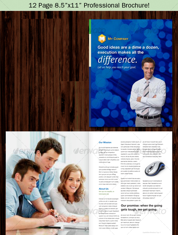 "12 Page 8.5""x11"" Professional Brochure"