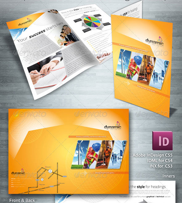 Dynamic Corporate & Business 4 Page Brochure