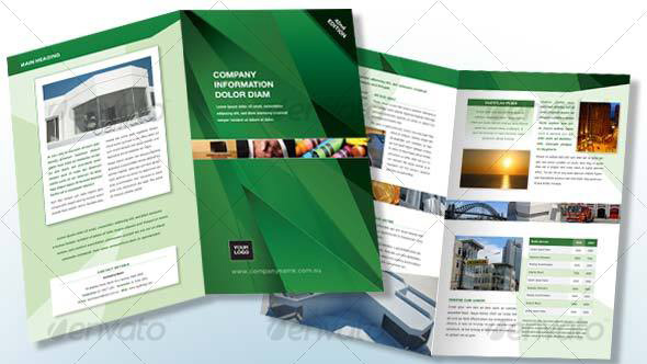 Green 4 page, A4 Generic Brochure