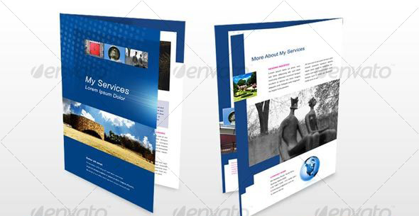 4 page A4 Brochure, Modern, Design, Architecture
