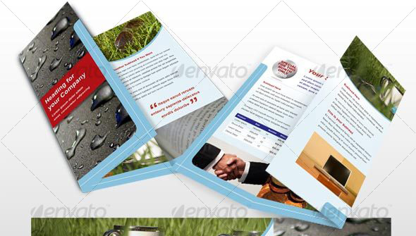 6 page modern brochure