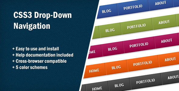 CSS3 Drop-Down Navigation