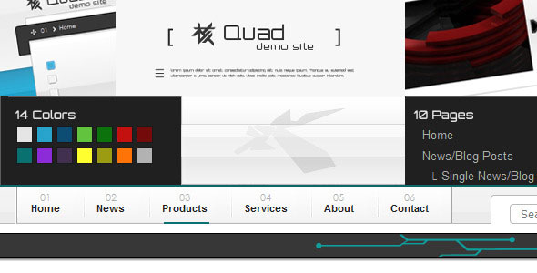 Quad xHTML Template NewsBlog and Product Catalogue