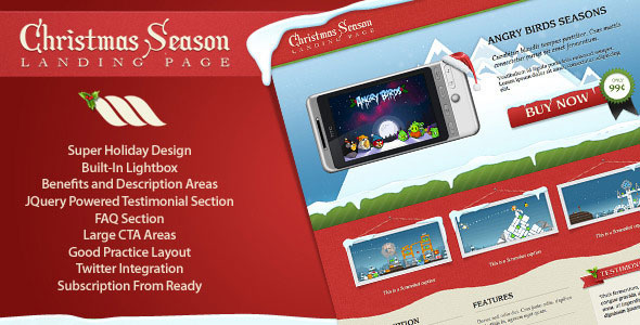 Christmas Season Landing Page Template
