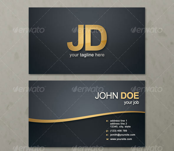 Simple Wave Business Card