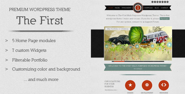 The First - Multipurposes WordPress Theme