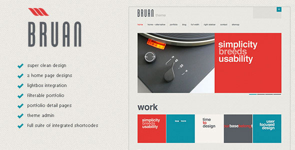 Bruan - Premium WordPress Theme