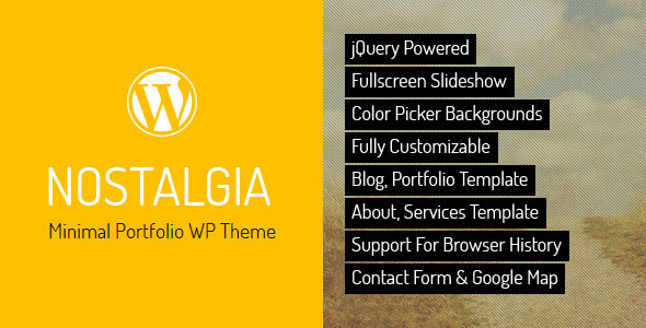 Nostalgia - Portfolio WordPress Theme
