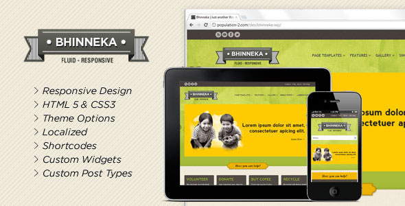 Bhinneka - a Responsive WordPress Theme