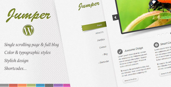 Jumper WP - one page theme