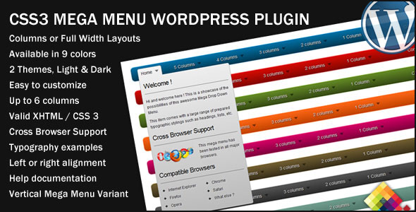 CSS3 Mega Menu WordPress Plugin