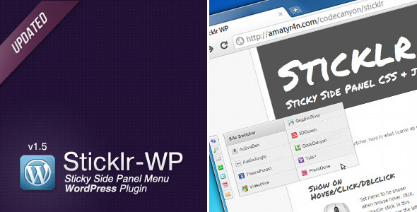 Sticklr WP - Sticky Side Panel WordPress Plugin