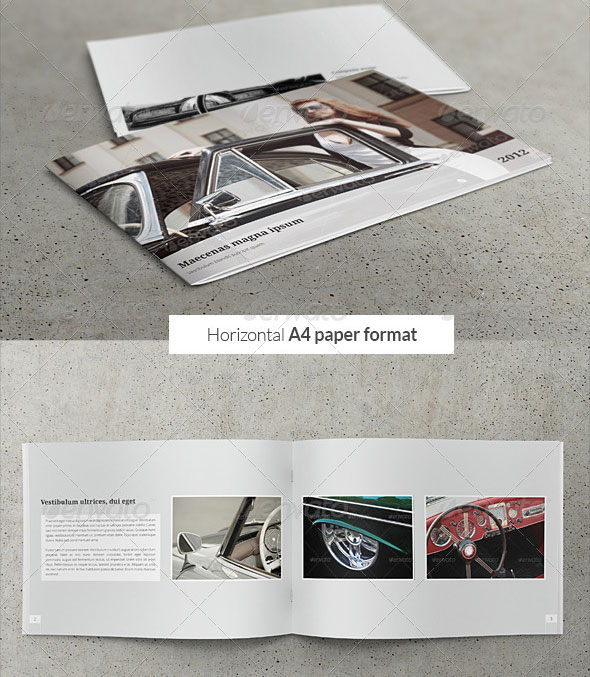 Car / Product Showcase Horizontal A4 Brochure