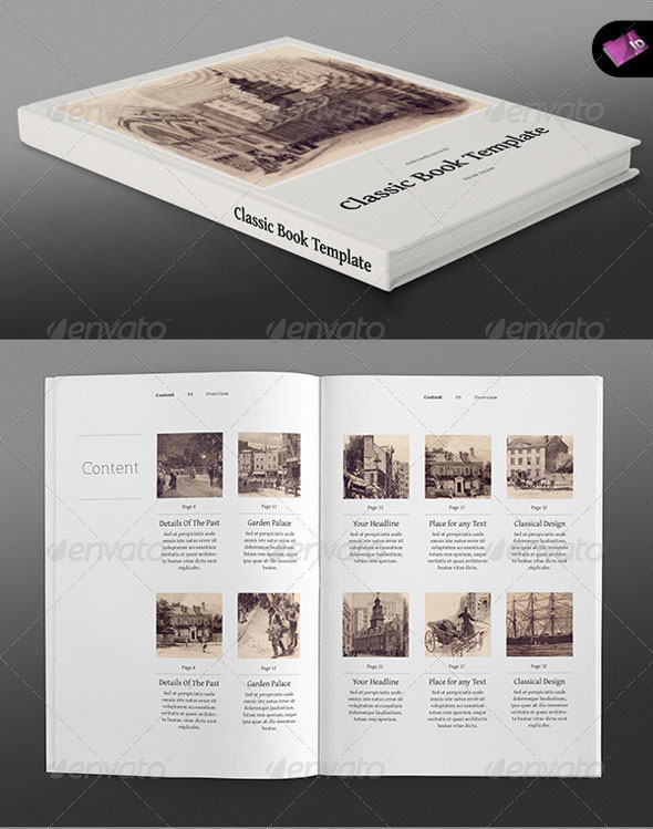 Classic Series Portrait Book Template