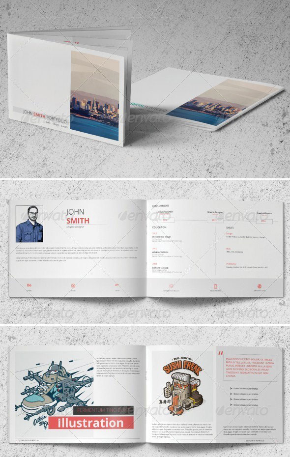 picture relating to Printable Portfolio Template known as 37 Resourceful Portfolio Brochure Style Templates print