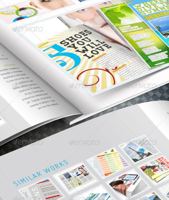 Web Portfoio InDesign template