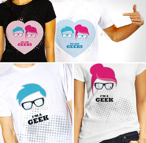 Geek Vector Illustration T-shirt Template