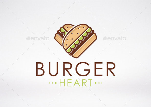 Burger Love Logo Template