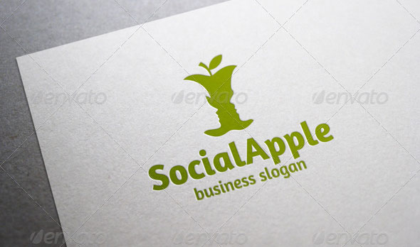 Social Apple Logo