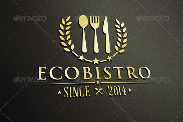 Natural Restaurant Logo Template