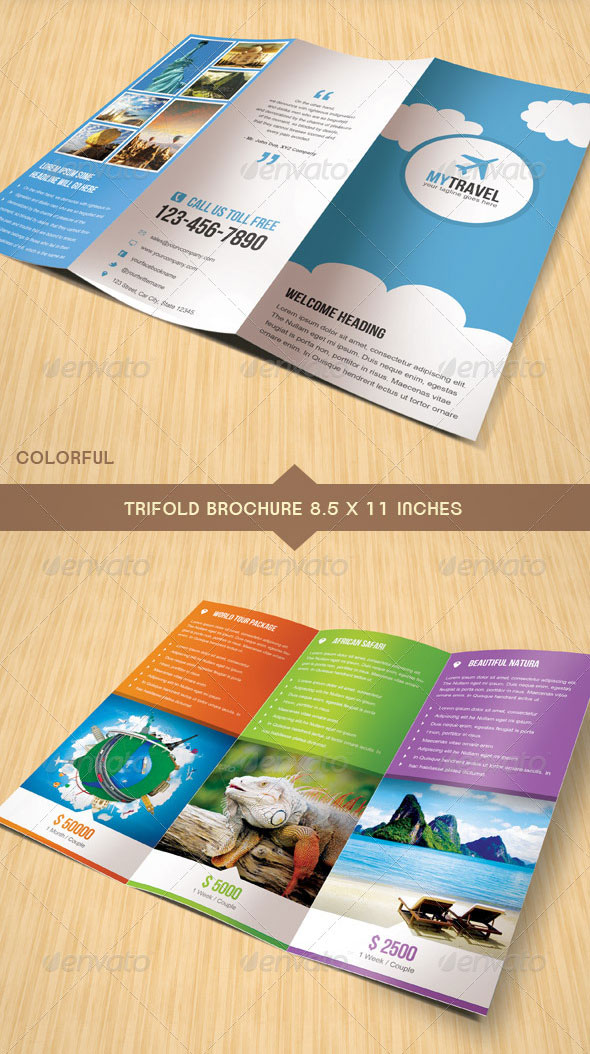 Travel Business Trifold Brochure
