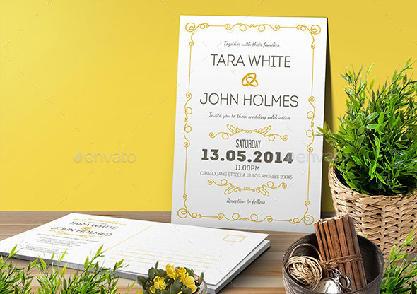 Simple Wedding Invitation & RSVP