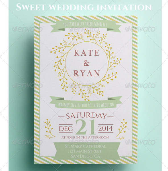 Sweet Wedding Invitation and RSVP