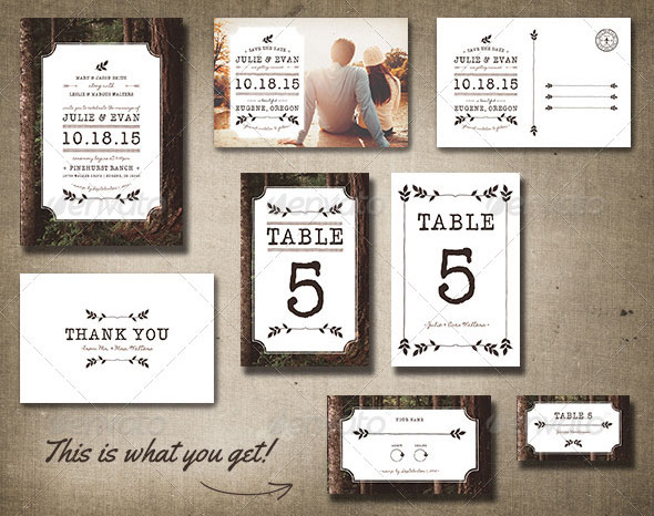 Rustic Wedding Pack