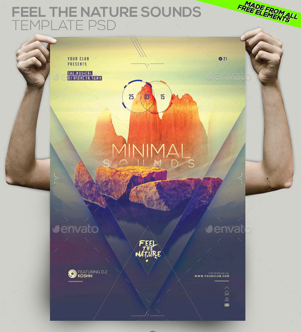 Minimal Party Template PSD Flyer/ Poster