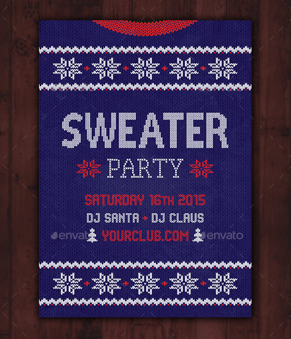 Ugly Sweater Party Flyer