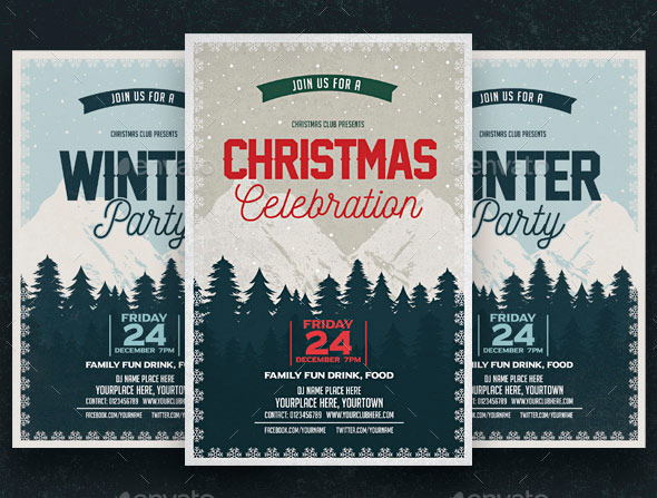 Christmas Celebration & Winter Party Flyer